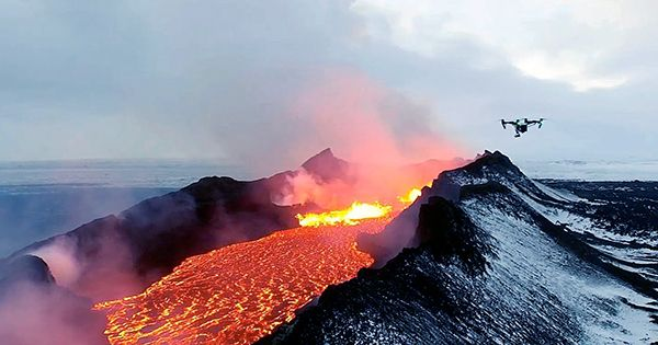 YouTuber Crashes Drone Directly into Center of Erupting Volcano and Captures Last Moments