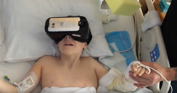 VR as a Pain Reliever: Reducing the Pain of Dressing Changes in Pediatric Burn Patients