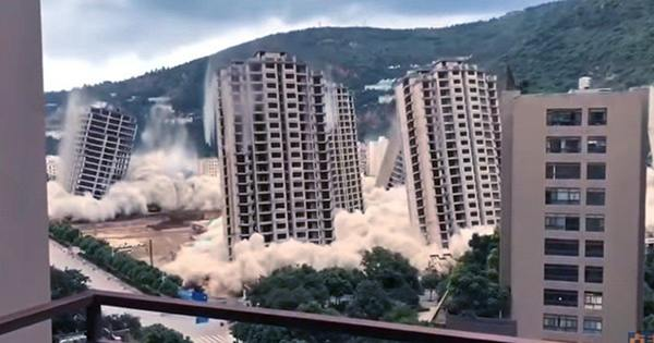 Watch as 15 Skyscrapers Simultaneously Explode in Mass Demolition