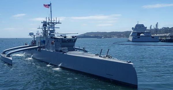 """Watch the Pentagon's Crewless """"Ghost Ship"""" Launch a Missile"""